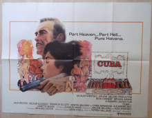 Cuba, Original UK Quad Poster, Sean Connery, Brooke Adams, '79